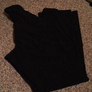 Black Maternity Dress Pants Large Long